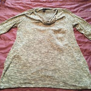 Motherhood grey cow neck maternity sweater
